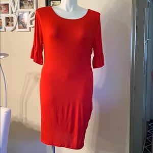 NWOT New Yorker Company Red Summer Dress Size L